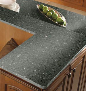 Kitchen countertop pros cons for Man made quartz countertop