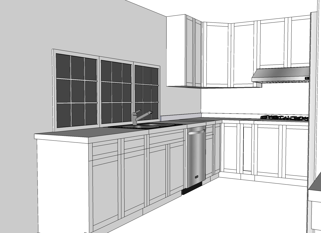 Vazana Construction 3D Kitchen Modeling in South Bay